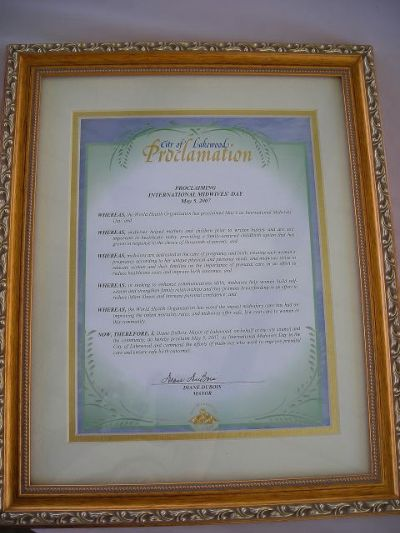Proclaiming International Midwives Day
